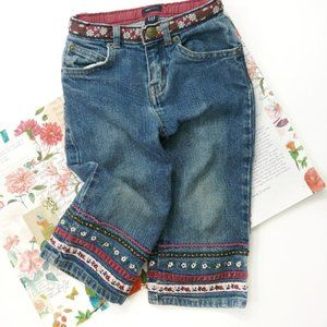 Gap Floral Embroidered Jeans Size 18-24 Months